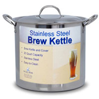 20 Qt. Economy Stainless Steel Brew Kettle with Lid