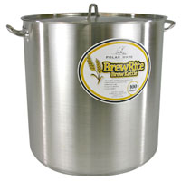 100 Qt. BrewRite Stainless Steel Brew Kettle
