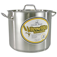 32 Qt. BrewRite Stainless Steel Brew Kettle