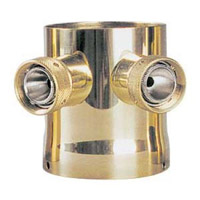 Two Product Tower Adapter - Brass