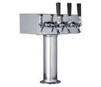 Kegco TTOW-3F-SS Polished Stainless Steel T-Style 3 Faucet Tower - 3