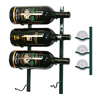Vintage View WS-BIG1-K - 4-Bottle BIG Series Wine Rack - Black Satin Finish