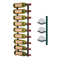 WS31-BRASS - 9 Bottle Vintage View Wine Rack - Brass Finish