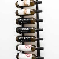 3' Wall Mount 9 Bottle Wine Rack - Chrome Finish