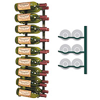 Vintage View WS32-K - 18 Bottle VintageView Wine Rack - Satin Black Finish