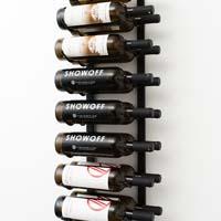 3' Wall Mount 18 Bottle Wine Rack - Satin Black Finish