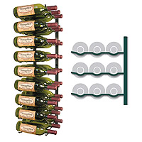 Vintage View WS33-K - 27 Bottle VintageView Wine Rack - Satin Black Finish
