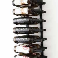 3' Wall Mount 27 Bottle Wine Rack - Black Chrome Finish