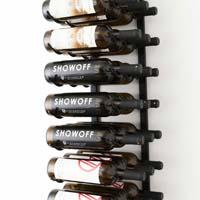 3' Wall Mount 27 Bottle Wine Rack - Black Chrome Finish