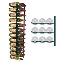 Vintage View WS43-K - 36 Bottle VintageView Wine Rack - Satin Black Finish