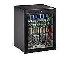 Scratch & Dent Return - U-Line ADA24RGLB-13 5.3 cf ADA Undercounter Refrigerator w/ Lock  - Black Cabinet with Black Glass Door