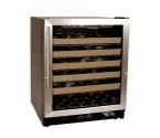 Aficianado C333R 50-Bottle Wine Refrigerator - Black Cabinet with Stainless Steel Dool - Right-Hand Hinge