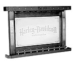 Harley-Davidson Bar & Shield Flames Back Bar - Vintage Black - HDL-13400-V