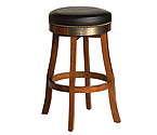 Harley-Davidson� HDL-13120-H - Bar & Shield Flames Bar Stool - Heritage Brown