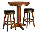 Harley-Davidson HDL-13202-H - Bar & Shield Flames Pub Table & Bar Stool Set - Heritage Brown