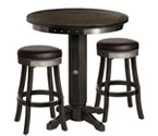 Harley-Davidson HDL-13202-V - Bar & Shield Flames Pub Table & Bar Stool Set - Vintage Black