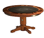 Harley-Davidson� HDL-13301-H - Bar & Shield Flames Poker Table w/ Heritage Brown finish