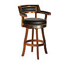 Harley-Davidson� HDL-13110-H - Bar & Shield Flames Bar Stools w/Backrest - Heritage Brown