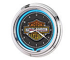 Harley-Davidson� HDL-16675 - Essential Bar & Shield Neon Clock