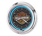 Harley-Davidson� HDL-16675 - Essential Bar & Shield Neon Clock