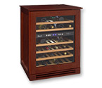 Avanti WCR534WDZD-M Wood Cabinet Dual Zone Wine Cooler in Mahogany