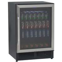 5.1 Cu. Ft. Beverage Cooler - Black with Glass Door