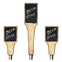 Rustic Barnwood Tap Handles with Chalkboard Surfaces - Set of 3