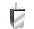 Kegco ICK19S-1 Javarator Cold-Brew Coffee Dispenser with Black Cabinet and Stainless Steel Door
