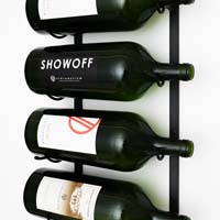 4-Bottle BIG Series Wine Rack - Black Chrome Finish