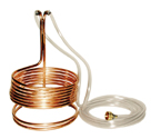 Standard Wort Immersion Chiller with garden hose fittings - 3/8
