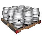 Pallet of 9 Kegco MK-K9G-CASK Kegs - Brand New 10.8 Gallon Firkin Cask Beer Keg