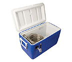 CB481B - Single Faucet Jockey Box - 120' Stainless Steel Coil - Blue