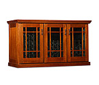 Le Cache Mission Credenza 180-Bottle Wine Cellar - Provincial Cherry Finish