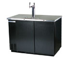 Beverage-Air Kegerator DD50-B Two Keg Beer Cooler - Black Vinyl