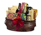 Deluxe Wine & Gourmet Gift Basket