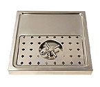 DP-1604- Stainless Steel Rinser Drain Drip Tray - 15 3/4