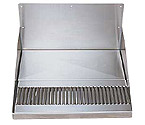 DP-520D - Barrel Head Stainless Steel Drip Tray w/ Backsplash & Drain