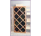 Designer Series Diamond Bin Wine Rack w/ Face Trim