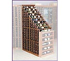 Designer Series 270 Bottle Waterfall Wine Cellar Racks