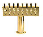 DS-258-PVD PVD Brass Eight Faucet T-Style Draft Tower - 4 Inch Column