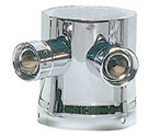DT-2HK Two Product Tower Adapter - Chrome