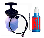 Draftec Deluxe Hand Pump Pressurized Keg Beer Kegerator Cleaning Kit w/ 32 oz. Cleaner