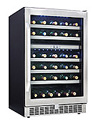 Danby DWC153BLSST 51 Bottle Dualzone Built-In Wine Refrigerator
