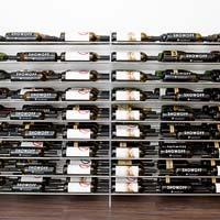 4' Evolution Extension System 81 Bottle Wine Display - Satin Black Finish