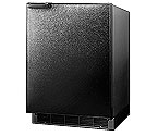 Summit BI605B 6.0 cf Built-in Refrigerator-Freezer - Black