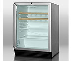 Summit SCR600BLCSSRC 5.5 cf Glass Door Refreshment Center