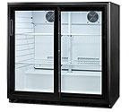 Summit SCR700 6.5 cf Undercounter Beverage Cooler w/Sliding Glass Doors