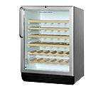 Summit SWC6GBLCSSWO 51-Bottle Wine Refrigerator w/Wooden Wine Shelves