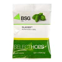 Glacier US Hop Pellets - 1 oz Bag