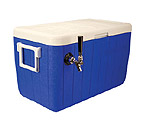 HDCP-D1-48B - Single Faucet Jockey Box - 48 Qt. Cold Plate Cooler - Blue